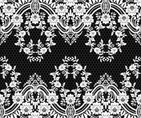 Beautiful lace seamless borders vector material 07