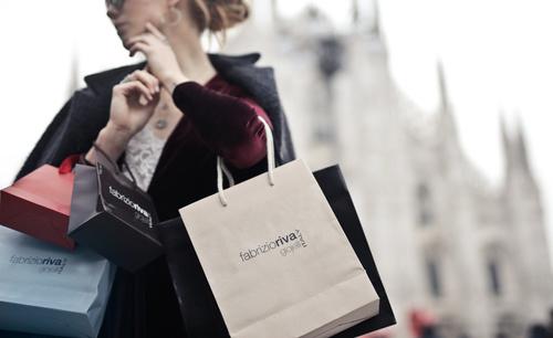 Beautiful woman carrying shopping bags Stock Photo 02