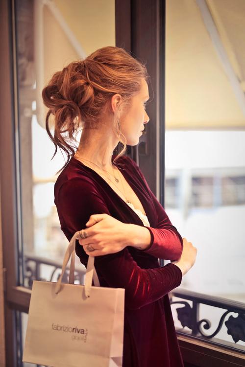 Beautiful woman carrying shopping bags Stock Photo 10
