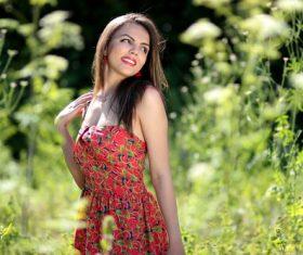 Beautiful woman posing outdoors Stock Photo