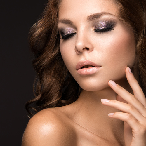 Beautiful woman with evening make up Stock Photo 11