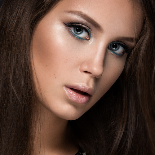 Beautiful woman with evening make up Stock Photo 13