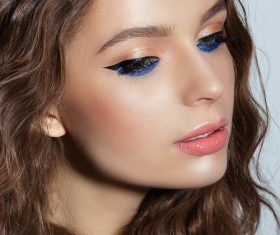 Beautiful young woman makeup Stock Photo 02