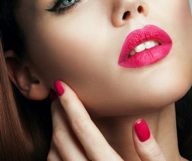Beautiful young woman makeup Stock Photo 03