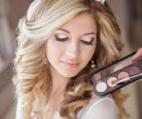 Beautiful young woman makeup Stock Photo 11