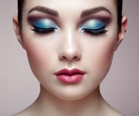 Beautiful young woman makeup Stock Photo 12