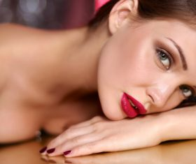 Beautiful young woman makeup Stock Photo 15