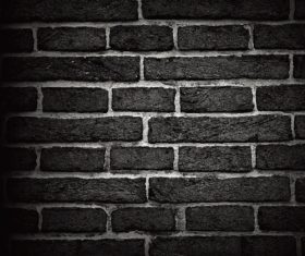 Black brick wall background vector