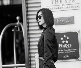 Black clothing fashion woman Stock Photo
