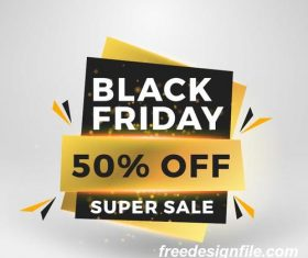 Black firday sale discount banners creative vectors 02