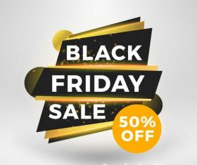 Black firday sale discount banners creative vectors 03