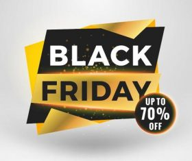 Black firday sale discount banners creative vectors 06