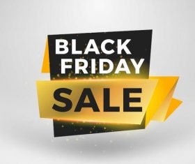 Black firday sale discount banners creative vectors 08
