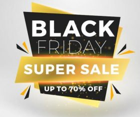 Black firday sale discount banners creative vectors 10