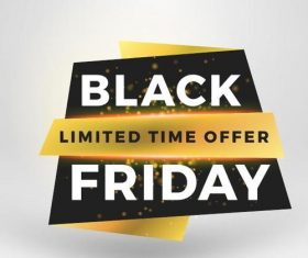 Black firday sale discount banners creative vectors 12