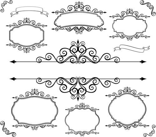 Blank Ornate Labels 2 vector graphics