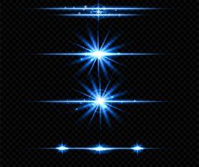 Blue transparent light effect vector illustration 01