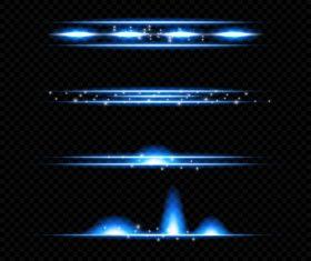 Blue transparent light effect vector illustration 02