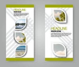Business flyer and leaflet template vectors set 17