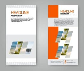 Business flyer and leaflet template vectors set 18