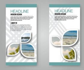 Business flyer and leaflet template vectors set 19