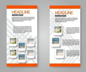 Business flyer and leaflet template vectors set 21