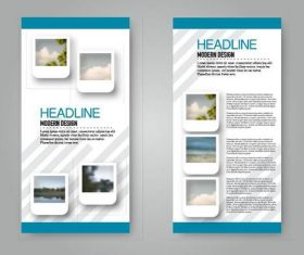 Business flyer and leaflet template vectors set 22