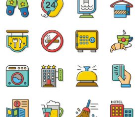 Business outlines app icons