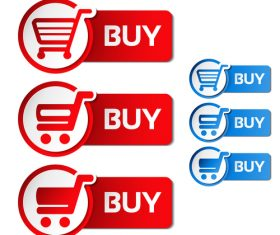 Buy cart sticker vector material 02
