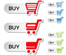 Buy cart sticker vector material 03