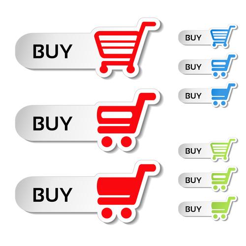 Buy cart sticker vector material 03