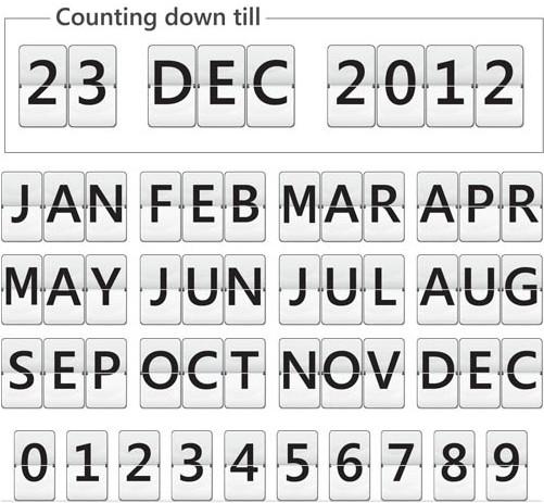 Calendars Symbols vector