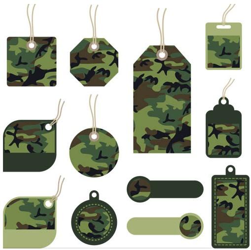Camouflage Elements Illustration vector
