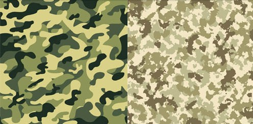 Camouflage backgrounds vectors graphic