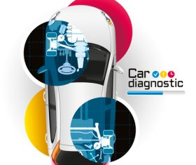 Car repair diagnostic vector template 02