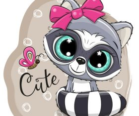 Cartoon cat cute design vectors material 03