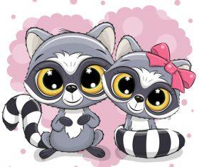 Cartoon cat cute design vectors material 04