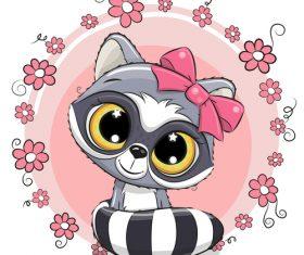 Cartoon cat cute design vectors material 06