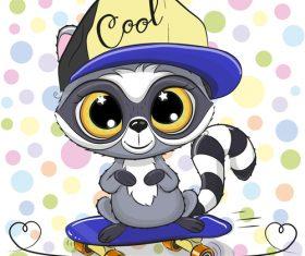 Cartoon cat cute design vectors material 07