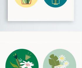 Cartoon flower arrangement vector