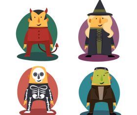 Cartoon halloween character vector