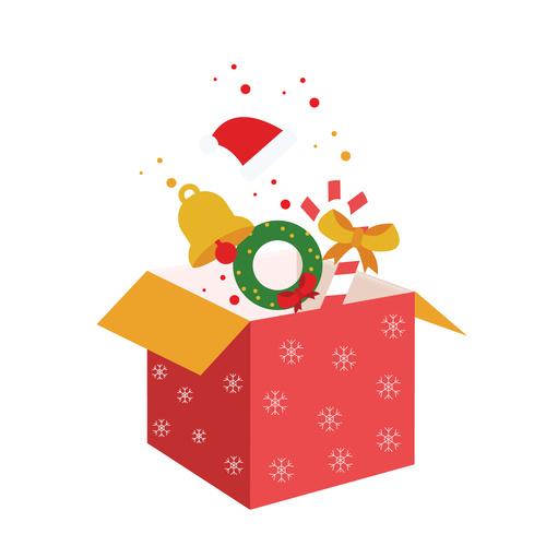 Cartoon Hand Drawn Christmas Gift Box Vector Free Download