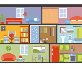 Cartoon vector house structure