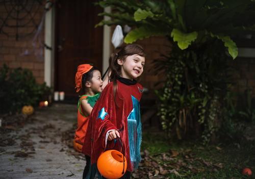 Children celebrating Halloween Stock Photo 02