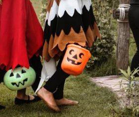 Children celebrating Halloween Stock Photo 04
