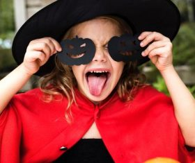 Children celebrating Halloween Stock Photo 07