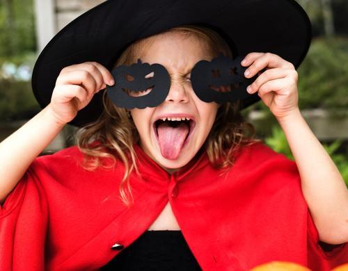 Children celebrating Halloween Stock Photo 07