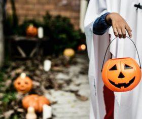 Children celebrating Halloween Stock Photo 08