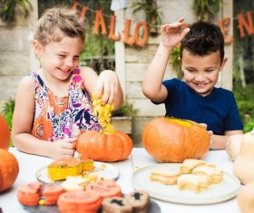 Children celebrating Halloween Stock Photo 10