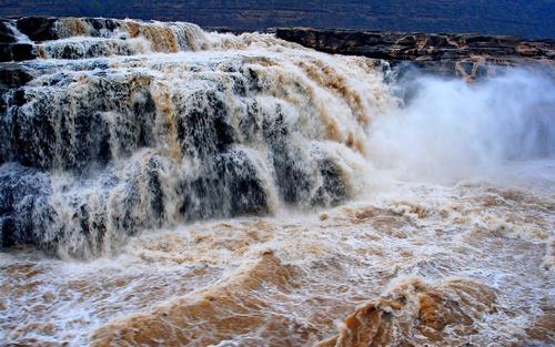 China Yellow River Hukou Waterfall Stock Photo 01